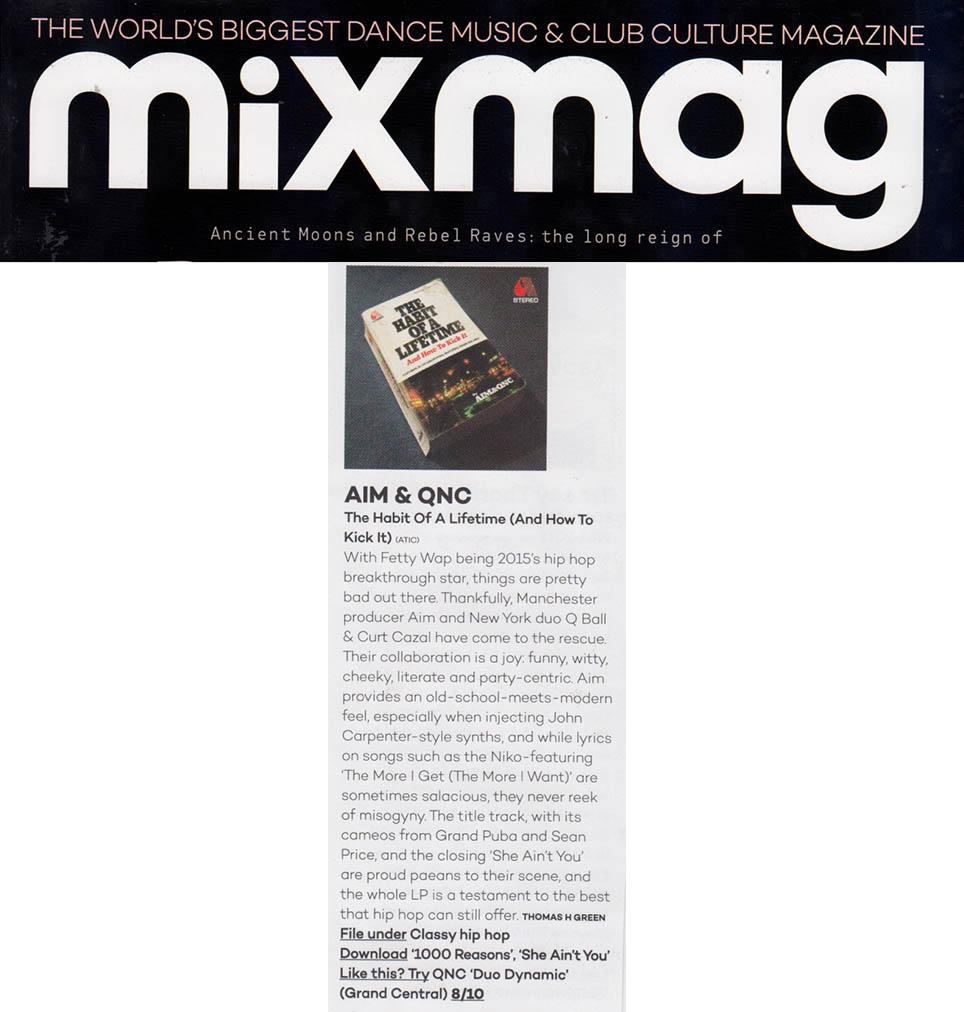 MixmagAlbumReviewDecember2015